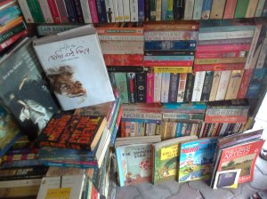 At a typical book-stall
