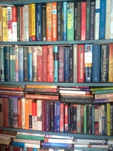 Book-stall, College-Street in Calcutta