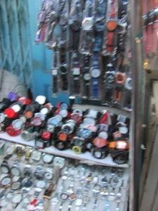 A street market stall in Calcutta