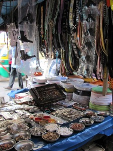 A Calcutta street market stall