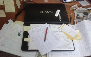 A clutter in the Workplace