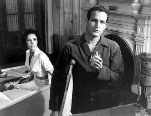 "Scene from the 1958 movie, ""Cat on a Hot Tin Roof"""
