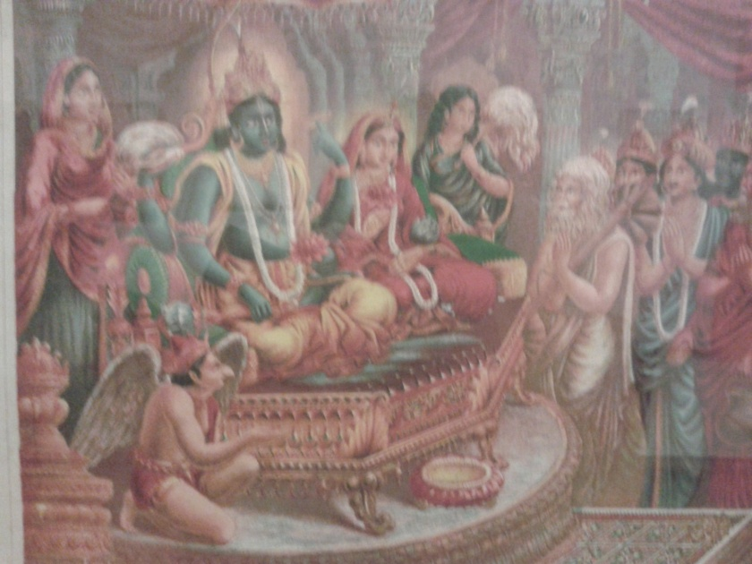 Laxmi-Narayan :Old Lithoprint