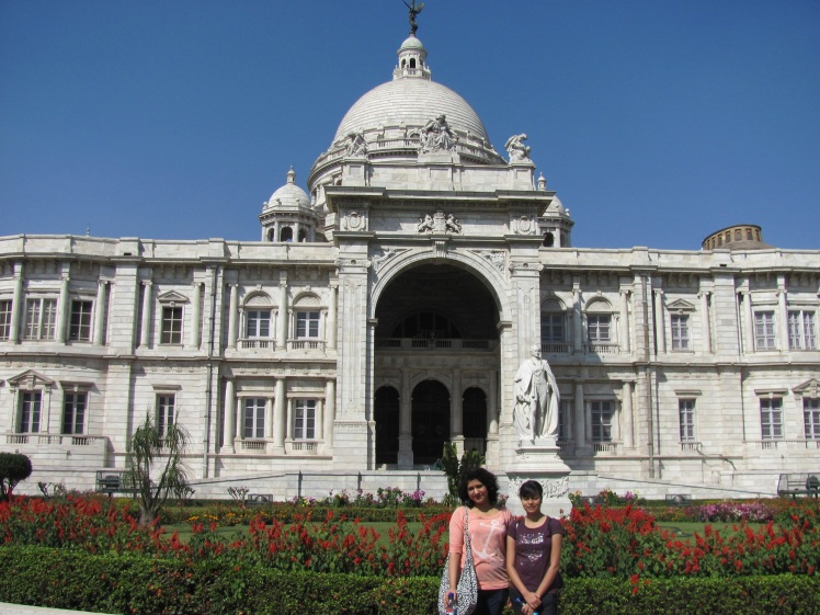 At the Victoria Memorial ..and that's us!