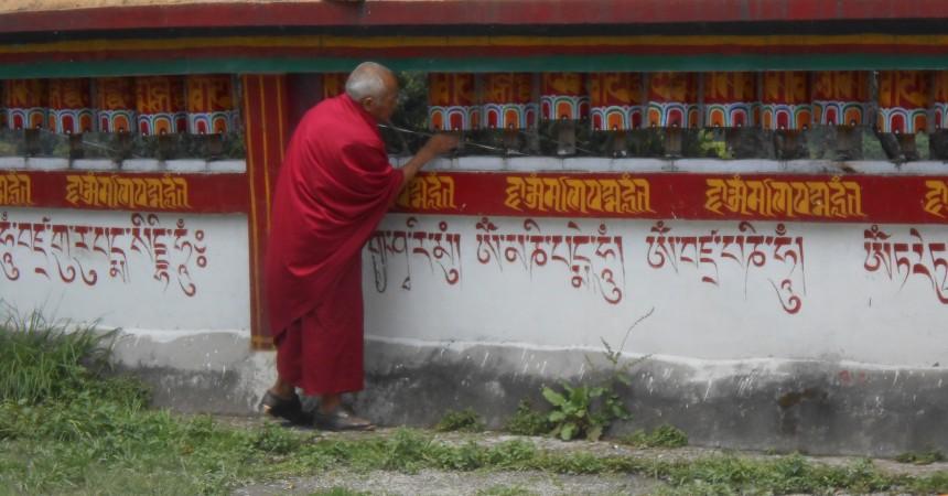 At Rumtek Monastry in Sikkim