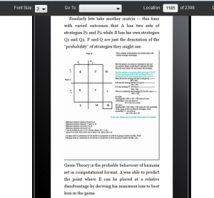 appearance of the book on the screen of a kindle fire