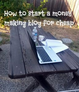 how to start a blog on the cheap