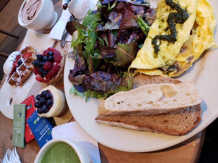breakfast at a french bakery in washington dc